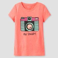 Girls' Graphic Tee Cat & Jack™ - Camera : Target