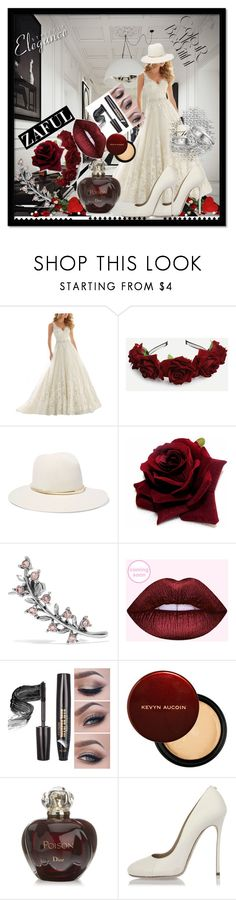 """Bez naslova #31"" by mustafa-saric ❤ liked on Polyvore featuring Janessa Leone, Oscar de la Renta, Christian Dior and Dsquared2"