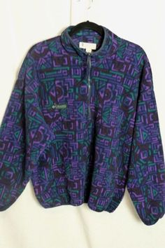 Vintage Columbia neon fleece jacket - extra large XL | eBay