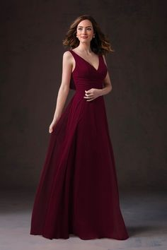 BridesmaidDresses. Style L184051 in  cranberry. Jasmine Party Gown Dress 720abd42ecde