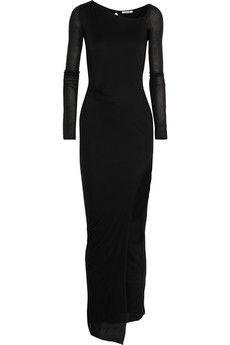I love Helmut Lang Draped lightweight jersey maxi dress | NET-A-PORTER