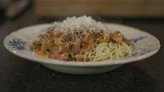 Spaghetti met pancetta en kerstomaat / Spaghetti with pancetta and cherry tomatoes (Jeroen Meus)