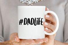 Dadlife Mug, Dad Life, Best Dad Ever Mug, Fathers Day Coffee Mug, Gift for New Dad, Fathers Day Gift, Ceramic Mugs, Dad Mug, New Dad Q0021 by WillowAndOlive on Etsy