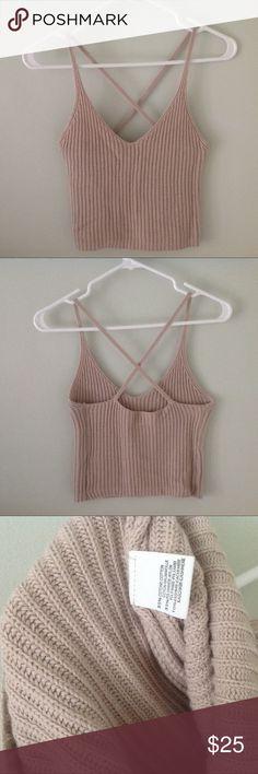 Brandy Melville cropped knit tank xs