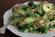 JRSL: Warm Millet & Broccoli - yum and super quick/easy. Added peas and sundried tomatoes, olives would be good too