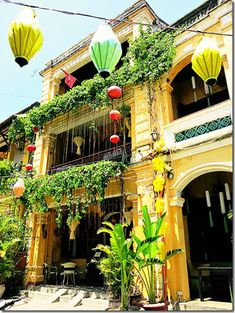 Lanterns and colours!  You will find an abundance of both in the charming Hoi An…