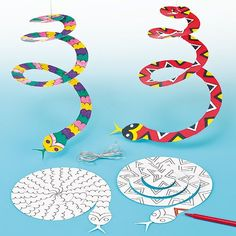 Spiral Snake Mobiles (Pack of 10) Baker Ross http://www.amazon.com/dp/B00A8LOG9W/ref=cm_sw_r_pi_dp_Stl6tb1Z7F1R7