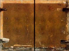 Antoni Tàpies - Doble 120. (1967)   Técnica mixta sobre tela. 195 x 260 cm.