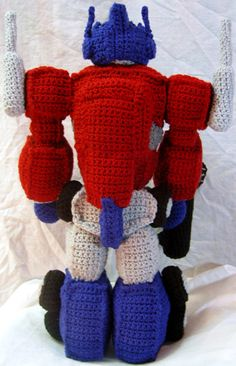 Crochet Pattern For Optimus Prime Hat : Optimus prime, Amigurumi and Crochet on Pinterest