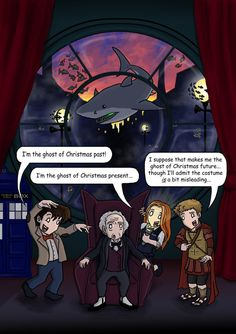 This is cute. But shouldn't be The Doctor be Christmas Future and Rory be Christmas Past? That makes a bit more sense to me...