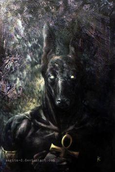 LAEC-Anubis by Sagita-D.deviantart.com on @deviantART Egyptian Mythology, Egyptian Art, Eye Of Anubis, Anubis Tattoo, Egypt Tattoo, Ancient Egypt Art, Fade To Black, Gods And Goddesses, Werewolf