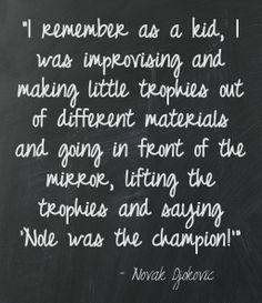 A young Novak #Djokovic said ......