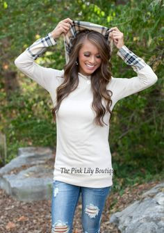 The Pink Lily Boutique - Long Road Home Hoodie Taupe , $39.00 (http://thepinklilyboutique.com/long-road-home-hoodie-taupe/)
