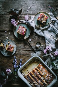 Rhubarb Cake Dessert Recipe by Eva Kosmas Flores | Adventures in Cooking