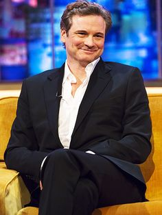Star Tracks: Friday, January 23, 2015   KING FOR A DAY   Looking cheerful on the set of The Jonathan Ross Show, Colin Firth talks up his new film Kingsman: The Secret Service in London on Friday. (Let's hope this interview wasn't crashed by another furry friend.)