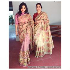 Sakhifashions- Organza silk i just perfect for this tropical season, and our designer is wearing the pure woven organza silk in peach and cream.