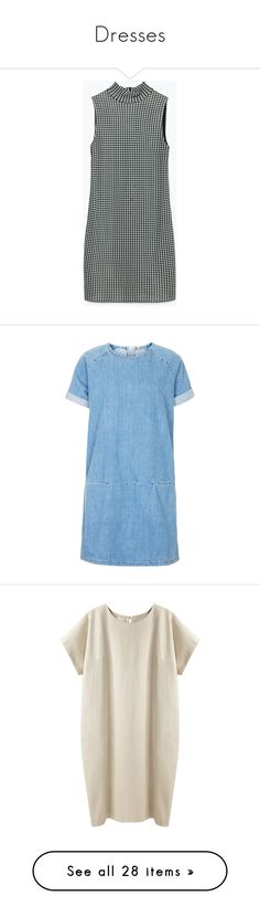 """Dresses"" by i-smell-grunge ❤ liked on Polyvore featuring dresses, zara dresses, lining dress, lined dress, jacquard dress, topshop, mid stone, tee shirt dress, blue t shirt dress and layered dress"
