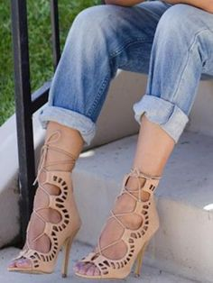 Love these!!  http://www.choies.com/product/camel-suede-peep-toe-tie-up-sandals_p23834