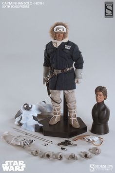 Star Wars Captain Han Solo - Hoth Sixth Scale Figure by Side | Sideshow Collectibles