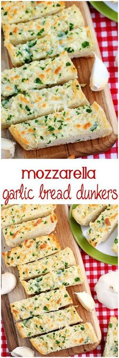 The most delicious cheesy garlic bread sticks - the perfect size for dipping in your soup, stew, chili or pasta sauce.