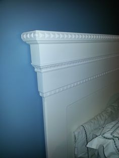 Mantel Moulding Headboard (DIY from Ana White) — I like the various mouldings used here by Jon Moore