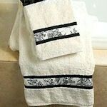 Fabric embellished towels