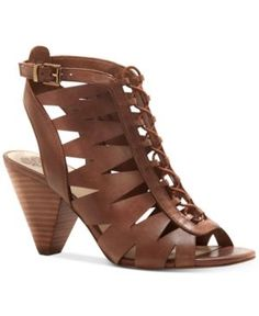 Vince Camuto Elettra Caged Sandals - Brown 6.5M