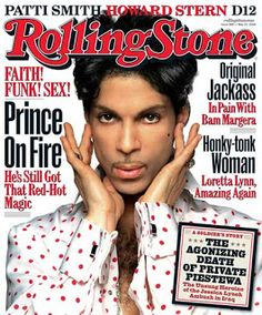 Rolling Stone Magazine Cover..Prince