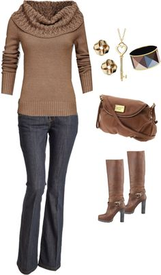 """""""Casual Brown"""" by melissa-terry on Polyvore"""
