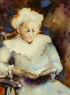 woman reading - Margo Pasman born 1945 in The Netherlands