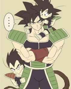 Aww! You guys are so cute! #bardock#raditz#kakarotto#kakarot#goku#gine #fathers#dad#sons#cute#family#followus#followme#dragonball#dragonballminus#dragonballsuper#kawaii