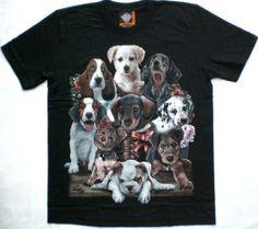 T-shirt con cuccioli di cane