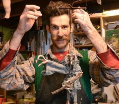 Madison J. Cripps takes us inside his River Arts District studio to discover the creative process behind puppets and puppeteering. Cripps will be performing Pinocchio at the Magnetic Field March 2 through March 23, 2013. 2/23/13. Robert Bradley