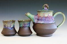 handmade ceramic tea set by Kazem Arshi eerily similar to OC. Pottery.