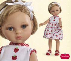 Carla de la colección La Lalla. #fruit #patern #dolls #muneca #frutas #estampado. Edición limitada