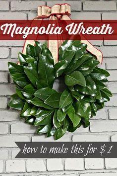 {15-Minute} Magnolia Leaf Wreath Tutorial