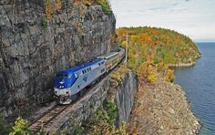 This train runs between New York and Montreal through the magnificent Hudson valley and the Adirondack mountains, which gave it its name. While the train often suffers from delays, the 11-hour trip is so beautiful, most people agree that it's worth it.