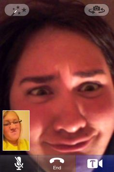 Skype calls with the BFF ily Shaunna <3 (duck face, lol)