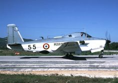 Breuget Br.1050 Alizé ASW aircraft of French Marine Nationale air arm Aeronavale. 75 delivered to Marine Nationale & another 12 to the Indian Navy. Powered by Rolls Royce Dart contra rotating turboprops. Roughly comparable with the Royal Navy's Fairey Gannet, but of course that bit more elegant.