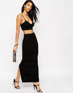 ASOS+Maxi+Tube+Skirt+with+Back+Vent