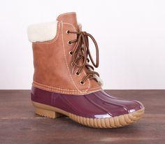 Bean Boots - Burgundy