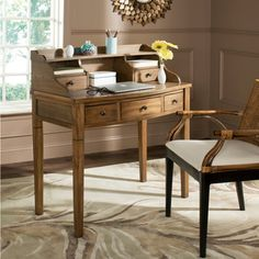 Safavieh Tiverton Oak Writing Desk - Overstock™ Shopping - Great Deals on Safavieh Desks