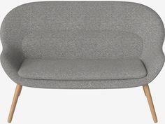 Philippa 2-Sitzer Sofa - Hazel - Stoff, Light Grey | Bolia.com Retro Sofa, Tub Chair, Sofas, Accent Chairs, Inspiration, Grey, Furniture, Home Decor, Organic Shapes