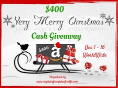 Christmas is just around the corner and everyone could use some extra Christmas cash to help you out for the holidays! Enter to win! A great group of bloggers have joined together to wish our reade…