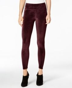 kensie Velvet Leggings - Red S