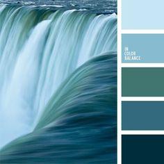 Von Wasserfall inspirierte Farbpalette | Inspiration Wandgestaltung | Farbschema