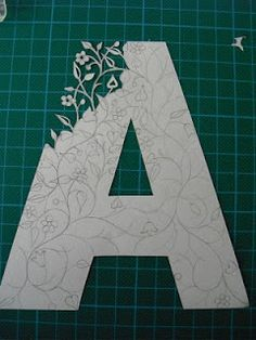 Folk Art Papercuts by Suzy Taylor: DIY Papercut Initials - intricate floral design