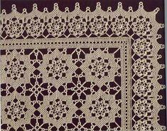 Beautiful make as big as you want Crochet Patterns Filet, Crochet Bedspread Pattern, Crochet Doily Diagram, Crochet Motif, Irish Crochet, Crochet Doilies, Crochet Stitches, Free Crochet, Crochet Table Runner