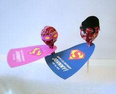 Super Hero Inspired Personalized Lollipop by DizzyDesignStudio, $45.00