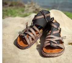 Handmade Women's Shoes Leather Sandals Leather Shoes by HerHis